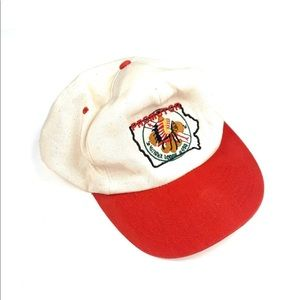 Mitigwa Lodge Vintage Cap Red and white colorway